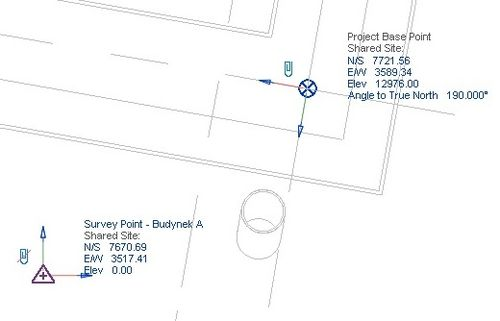 how to move project base point in revit